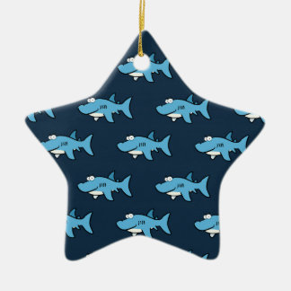 Modelo azul del tiburón del dibujo animado
