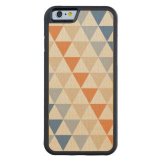 Modelo azul del triángulo del naranja que pone en funda de iPhone 6 bumper arce
