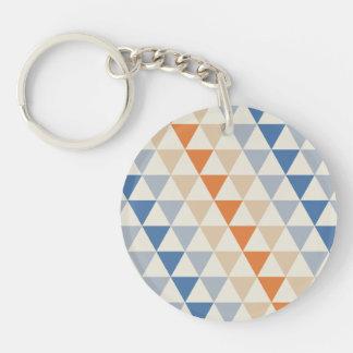 Modelo azul del triángulo del naranja que pone en llaveros