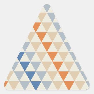 Modelo azul del triángulo del naranja que pone en pegatina triangular