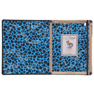 Modelo azul eléctrico del guepardo iPad cobertura