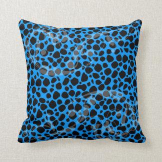 Modelo azul eléctrico del leopardo almohada