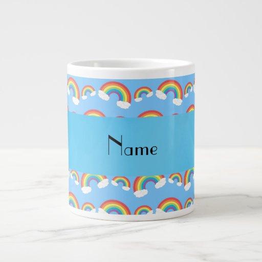 Modelo azul en colores pastel conocido taza grande