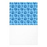 Modelo azul en colores pastel de la impresión de l  papeleria