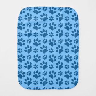 Modelo azul en colores pastel de la impresión de paños para bebé