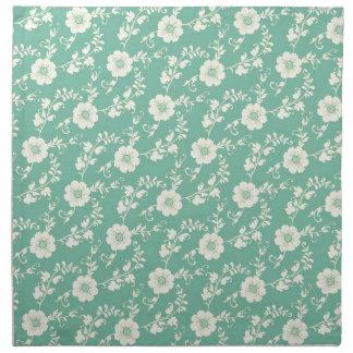 Modelo azul en colores pastel de la impresión servilleta