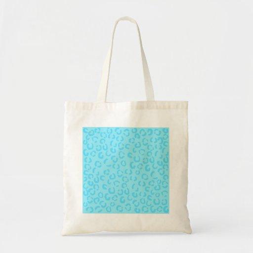Modelo azul en colores pastel del estampado leopar bolsa tela barata