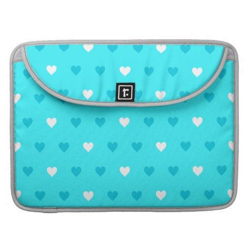 Modelo azul especial del corazón fundas macbook pro
