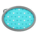 Modelo azul especial del corazón hebilla de cinturón