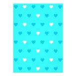 Modelo azul especial del corazón comunicados personales