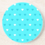 Modelo azul especial del corazón posavasos para bebidas