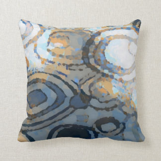 Modelo azul gris beige elegante de los cuadrados cojín