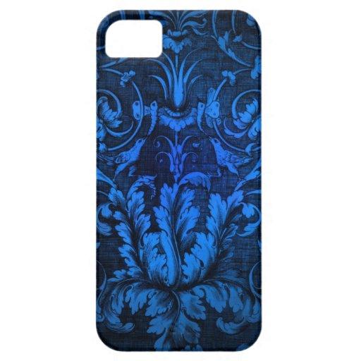 Modelo azul impactante del damasco iPhone 5 cárcasa