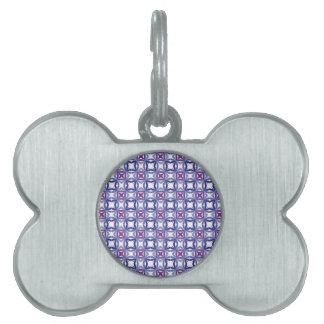Modelo azul islámico vol. 1 placas de nombre de mascota