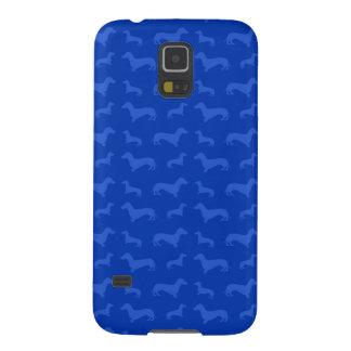 Modelo azul lindo del dachshund funda de galaxy s5