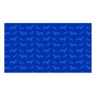 Modelo azul lindo del dachshund tarjeta de negocio