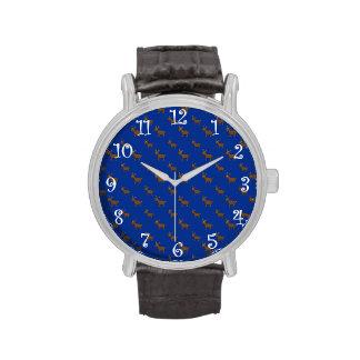 Modelo azul lindo del reno relojes de mano