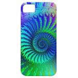 Modelo azul loco del fractal iPhone 5 Case-Mate coberturas