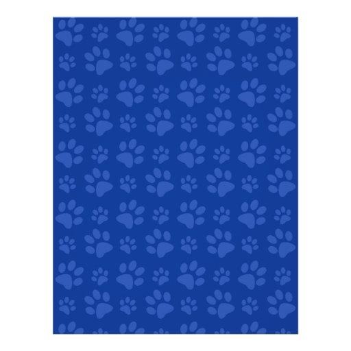 """Modelo azul marino de la impresión de la pata del folleto 8.5"""" x 11"""""""