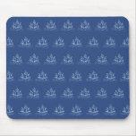 Modelo azul marino del barco pirata tapetes de ratones