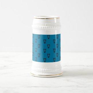 Modelo azul marino del búho taza