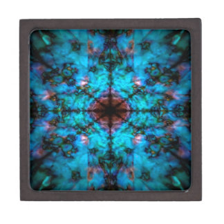 Modelo azul marino del caleidoscopio caja de regalo de calidad