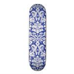 Modelo azul marino del damasco patineta personalizada