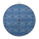 Modelo azul marino elegante de los remolinos tablero de dardos