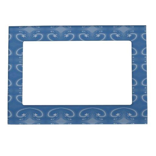 Modelo azul marino elegante de los remolinos marcos magnéticos de fotos