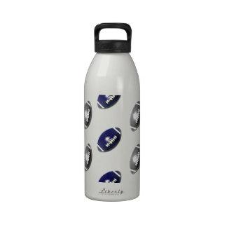Modelo azul marino y de plata del fútbol botellas de agua reutilizables