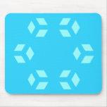 Modelo azul Mousepad del hexágono Tapete De Raton