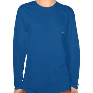 Modelo azul náutico del marinero camiseta