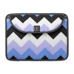 Modelo azul, negro, gris de Chevron Funda Para Macbook Pro