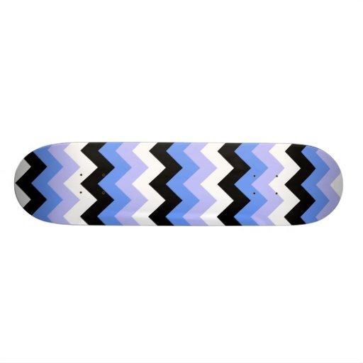 Modelo azul, negro, gris de Chevron Patineta Personalizada