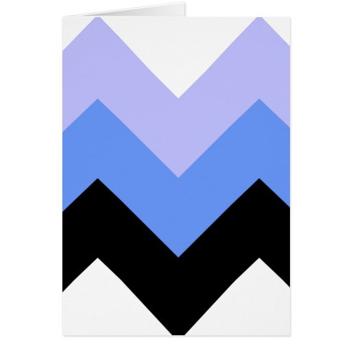 Modelo azul, negro, gris de Chevron Tarjeta De Felicitación