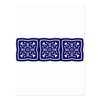 Modelo azul oriental de la teja postal