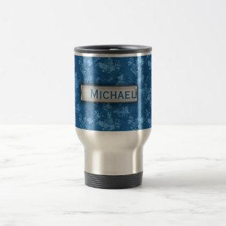 Modelo azul personalizado de Camo Taza De Café