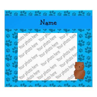 Modelo azul personalizado de la pata del oso conoc arte fotográfico
