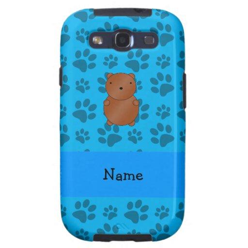 Modelo azul personalizado de la pata del oso conoc galaxy s3 carcasas