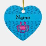 Modelo azul personalizado de las anclas del cangre ornamentos de reyes magos