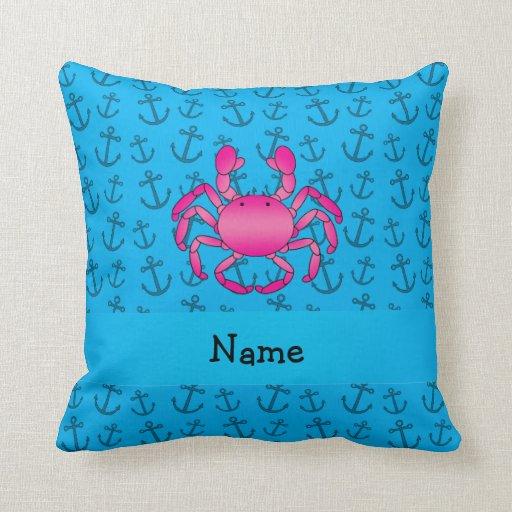 Modelo azul personalizado de las anclas del almohadas