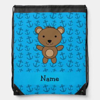 Modelo azul personalizado de las anclas del oso mochilas