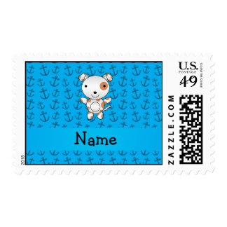 Modelo azul personalizado de las anclas del perro