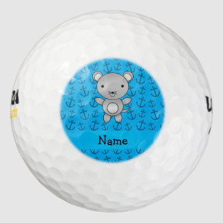 Modelo azul personalizado de las anclas del ratón pack de pelotas de golf