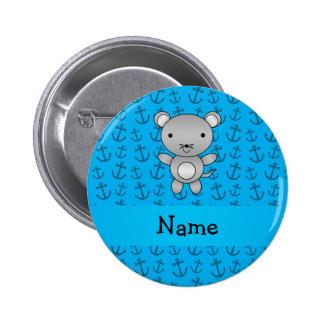 Modelo azul personalizado de las anclas del ratón  pins
