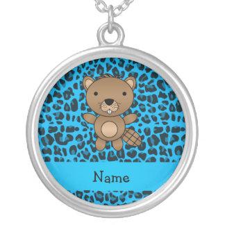 Modelo azul personalizado del leopardo del castor  joyeria personalizada