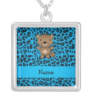 Modelo azul personalizado del leopardo del castor  grimpola personalizada