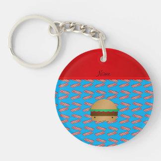 Modelo azul personalizado del tocino de la hamburg