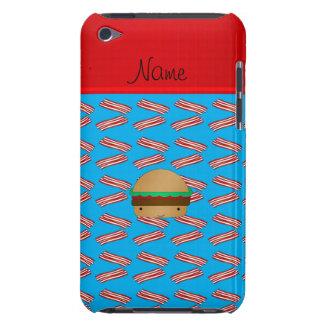 Modelo azul personalizado del tocino de la hamburg iPod touch Case-Mate carcasa