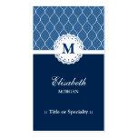Modelo azul profesional y elegante del cordón tarjeta de visita